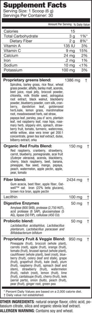 310 juice ingredients