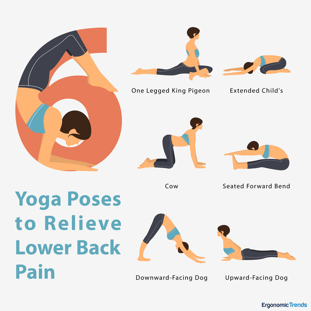 6 Yoga Poses and Tips to Alleviate Back Pain – Miosuperhealth