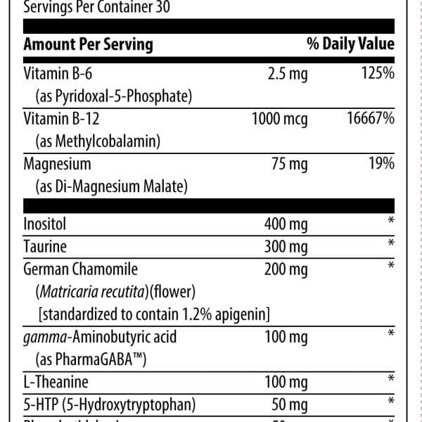 neurocalm ingredients