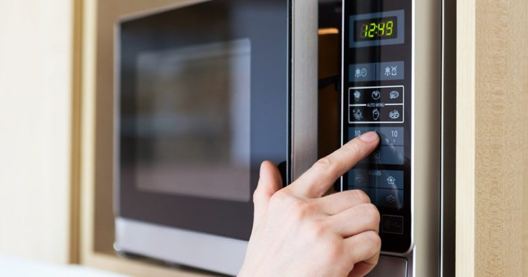 How to find watts of microwave