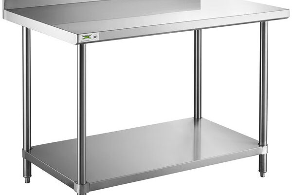 What are the main criteria for choosing the size of a stainless steel work table?